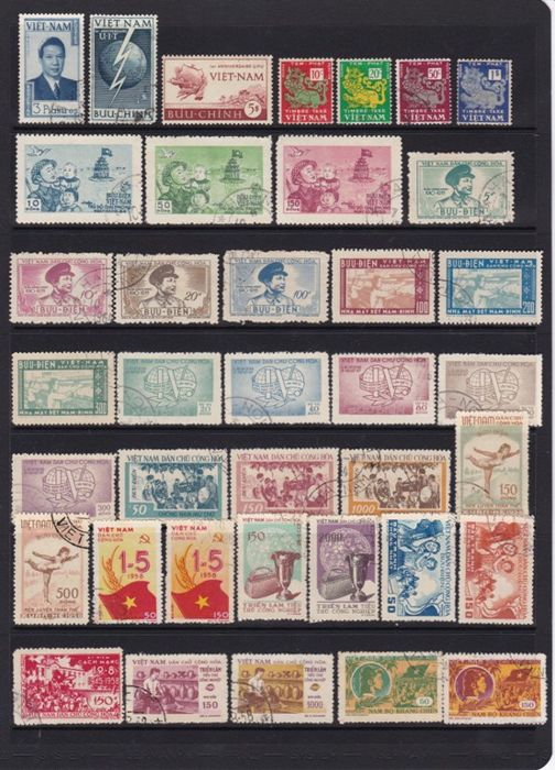 Vietnam 1950/1980 - Set of series and stamps