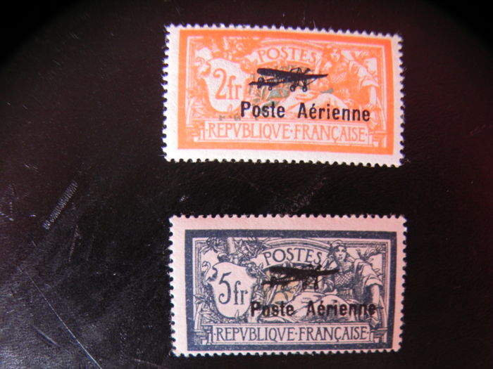 France 1927 - Airmail signed Roumet - Yvert Pa 1 and 2