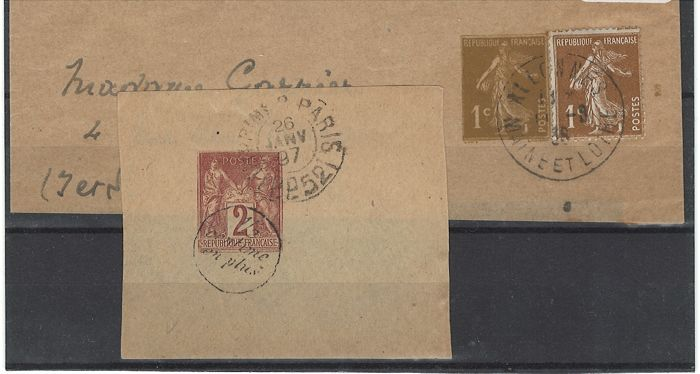 France 1884 - Stamp for newspaper, Sage Type II overprinted 1/2 centimes - Yvert no. 14