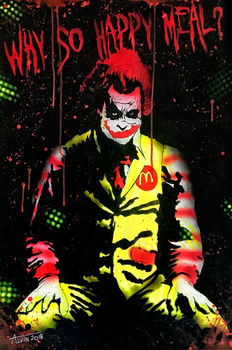 Alvin Silvrants - Batman's the Joker as McDonalds clown  3D