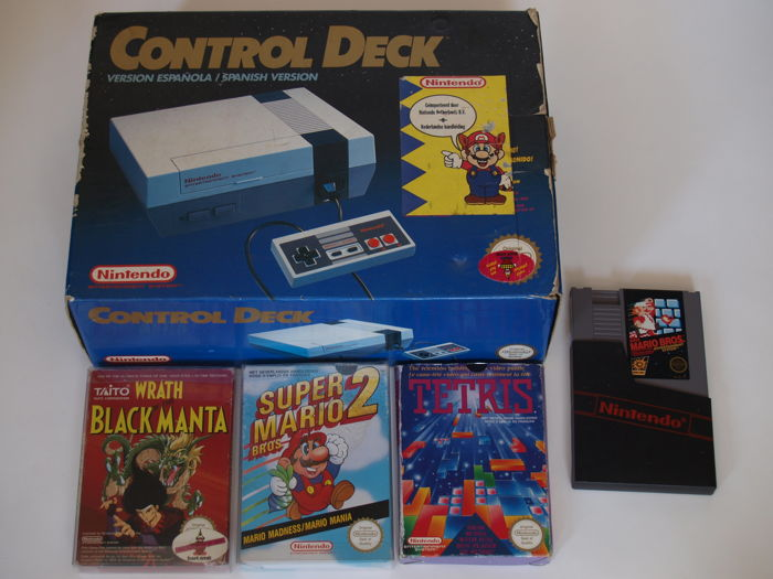 Boxed Nintendo Entertainment System and games