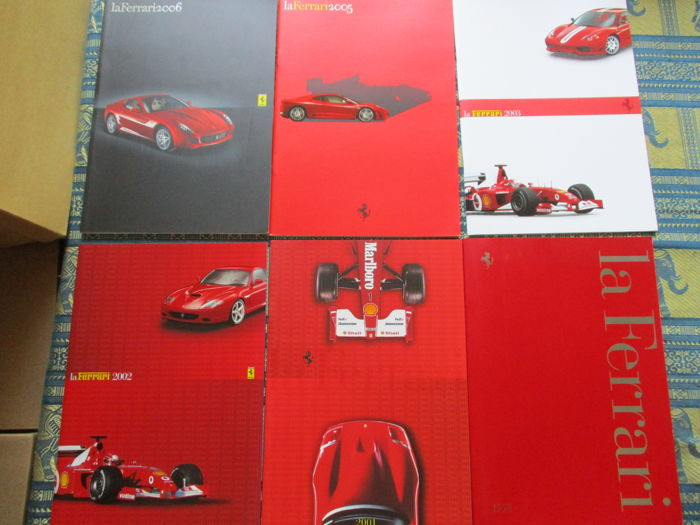 Brochuras / Catálogos - Ferrari - official yearbooks - 1998-2006