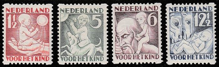 The Netherlands 1930 - Syncopated perforation, children's stamps - NVPH R86/R89