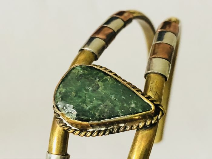 Antique decorated jade bracelet, Italy, circa 1920