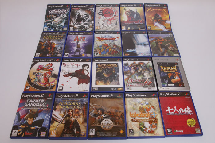 Lot of 20 Playstation 2 Games - Okami and more with manuals