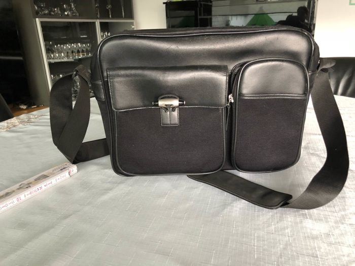MONTBLANC leather fabric bag