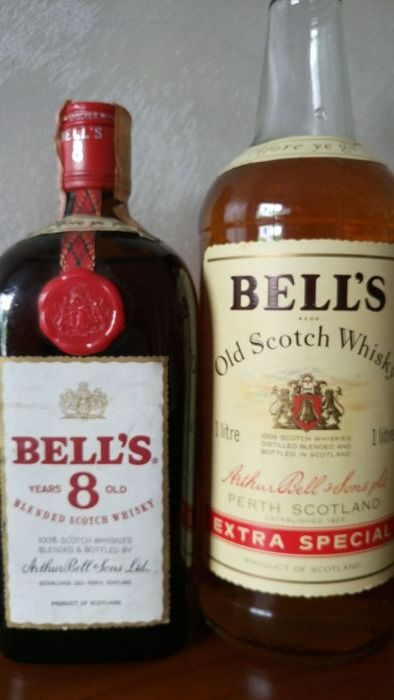 2 bottles - Bell's 8 years old 75cl 1970s & Bell's Extra Special 1 litre - 1970s