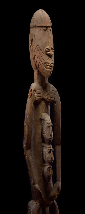 Large, Old Head-Hunting Sculpture - ASMAT - West Papua