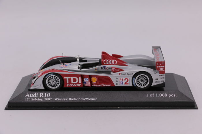 MiniChamps - 1:43 - Limited Edition - Audi R10 - 12H Sebring 2007