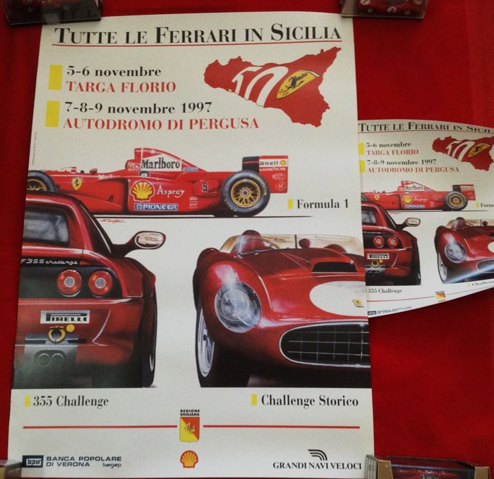 Poster - 50th Sicilian Event FerrariPoster + Pasotti Poster - 1997 (3 items)