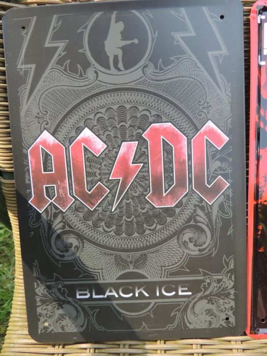 Two Stunning AC/DC - Linkin Park - Metal Memorial Signs - AC/Dc Black Ice - Collectors Signs -