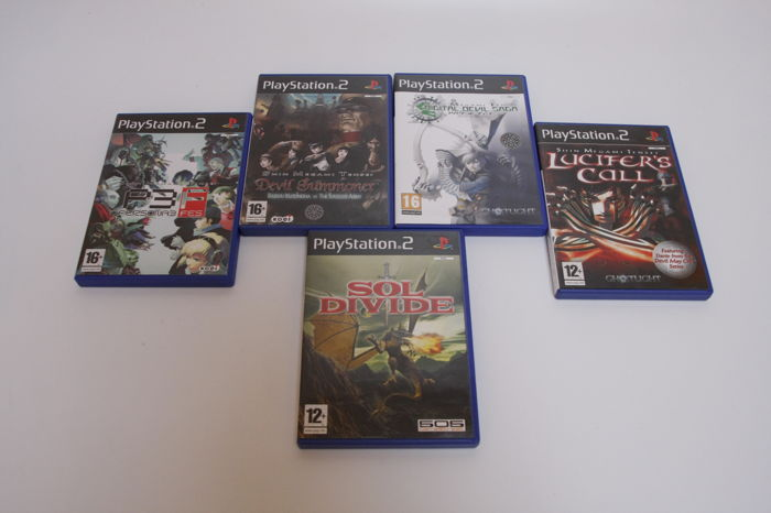 Lot of 4 rare Shin Megami Tensei games + Sol Divide Playstation 2 - with manuals