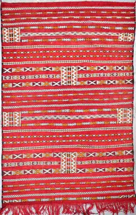 Authentic Kilim (Azilal)  -  Handmade - Morocco, Atlas Mountains - 209 x 145 cm - Age circa 1970