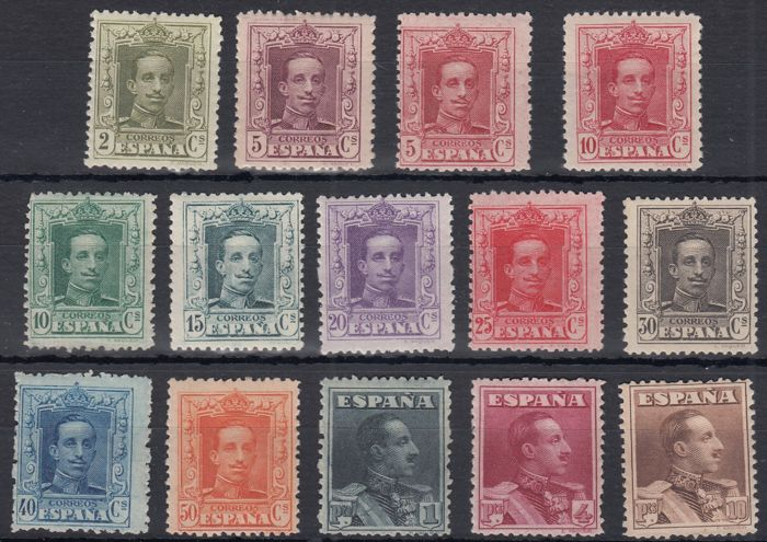 Spain 1922/1930 - Alfonso XIII. Vaquer type - Edifil 310/323