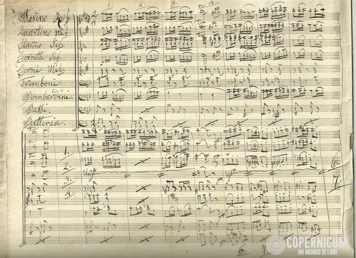 Bizet Georges (copyist of) - Handwritten arrangement; March obtained from the Carmen  - 1880