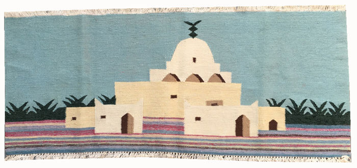 Hand Made Turkish Wall Hanging Ghelim - 100 cm x 42 cm