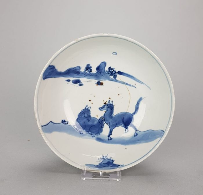 Porcelain Plate  - China - Tianqi or Chongzhen 1621-1645