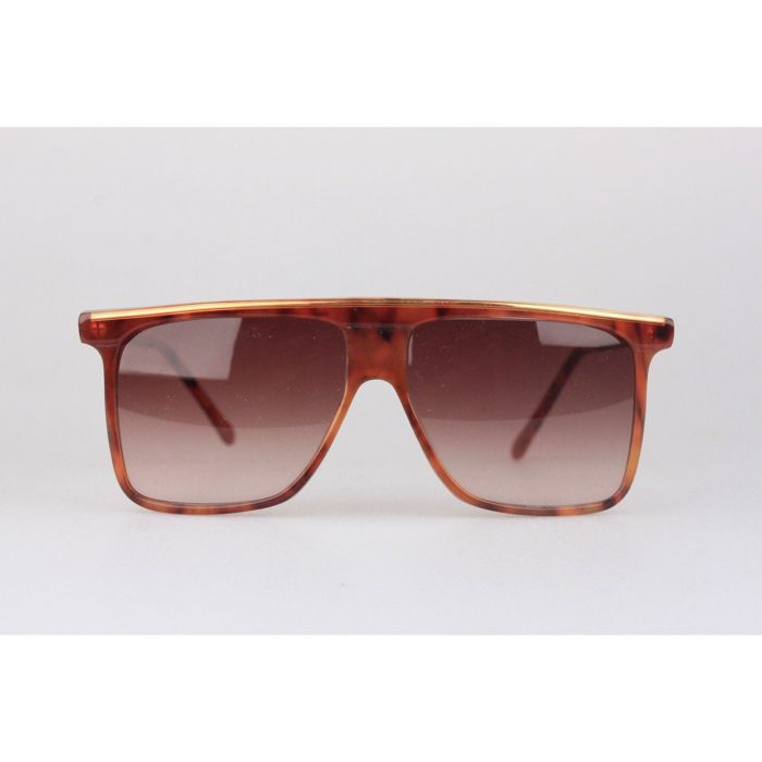 GIANNI VERSACE Vintage Brown Square Sunglasses 418 5414mm ... 411f0445c8a63