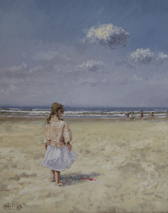 Chris J. van Dijk - Girl on the beach / other people in the distance
