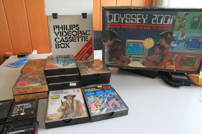 Retro Game Philips Odysee 2001 Tv game + Philips Videopacs no Console
