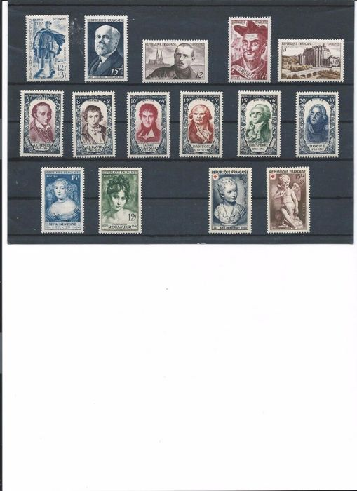 Frankrijk 1950/1953 - Lot of 4 years of stamps - Yvert  863 au 967