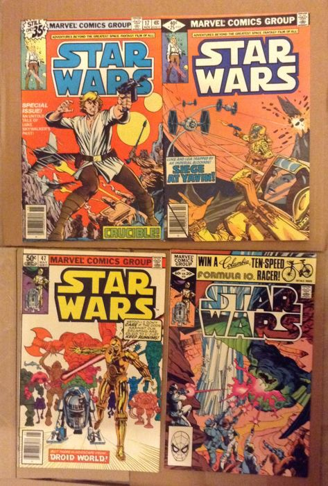 Star Wars #17, 25, 47 & 55 - Marvel Comics - x4 Comics - First Print - 1978 1982 -