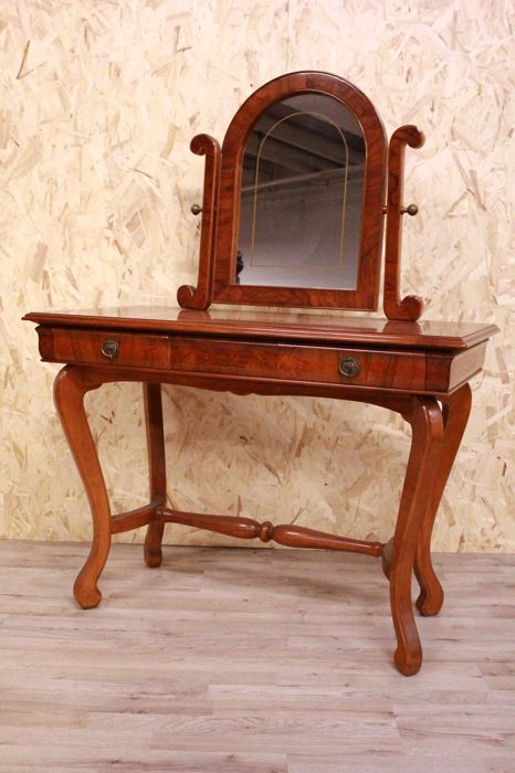 Walnut Petineuse/Vanity Table with mirror - 1950s