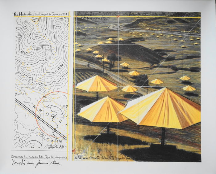 Christo & Jeanne-Claude - The Umbrellas, Yellow, California