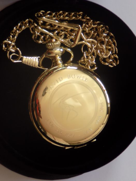 David Bowie 24k gold plated pocket watch.