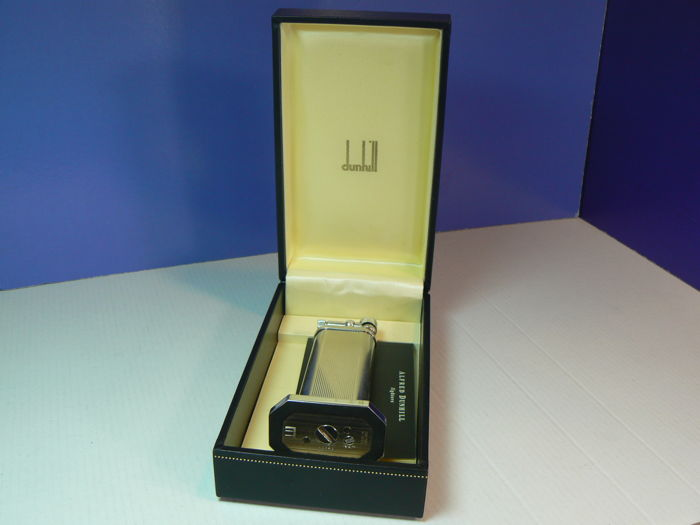 Dunhill table lighter; silver plated