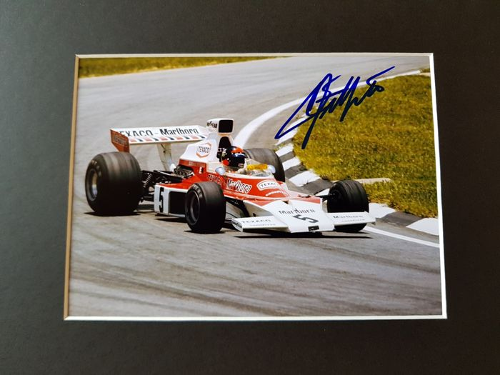 Emerson Fittipaldi - World champion Formula 1 - Monaco GP hand signed framed photo + COA.