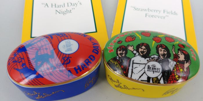 2 Franklin Mint The Beatles Music Boxs