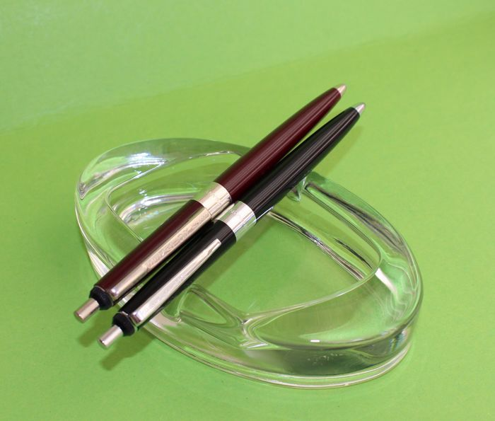 Vintage Senator Germany Ballpoint Pen,Two Pc ,  Very Nice,Very Rare,Colectors Pen,Black and Maroon Colour, 1960's Year, No Reserve