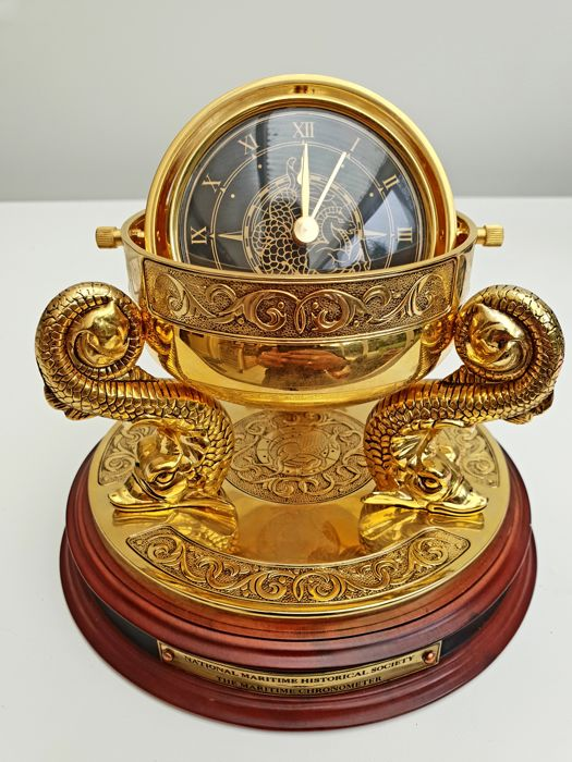 National Maritime Historical Society & FM - The Maritime Chronometer- 24 carat gold plated