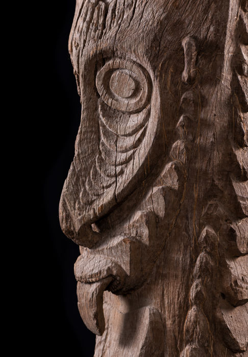 Classic 'PORA PORA' Cult House Post with Provenance - Sepik Province - Papua New Guinea
