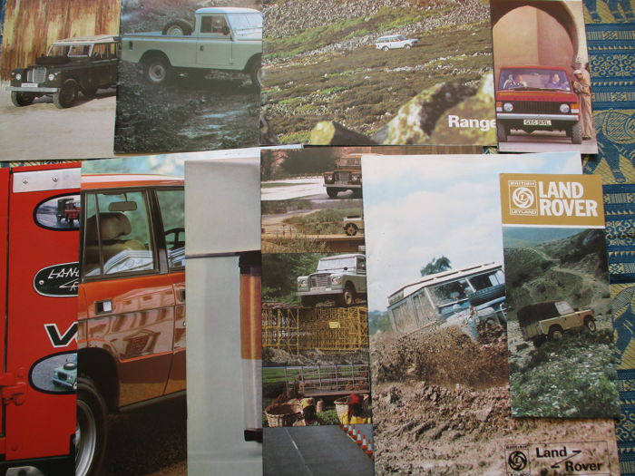 Car brochures (Land/Range Rover, 10x, 1974-1983)
