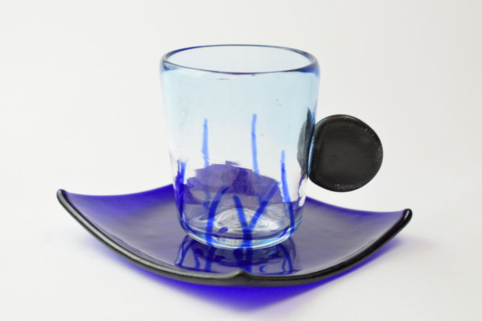 """Zecchin - Coffee cup with saucer from the """"Orizzonti"""" collection"""