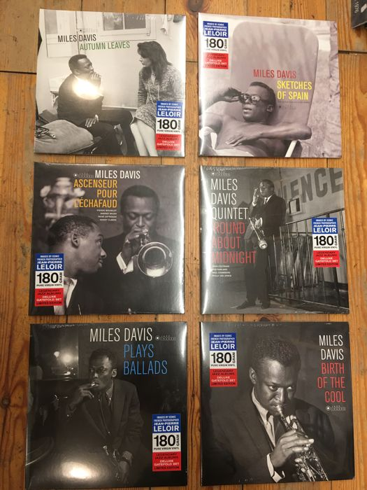 Miles Davis Legendary Jazz Albums Collection || 6x LP || Deluxe Gatefold || Limited Edition || Pressed on 180g Vinyl || Mint and Sealed!!