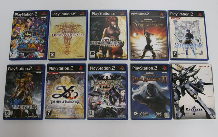 Lot of 10 Rare RPG Playstation 2 Games -  Shadow Hearts, Dark Alliance, Suikoden & more