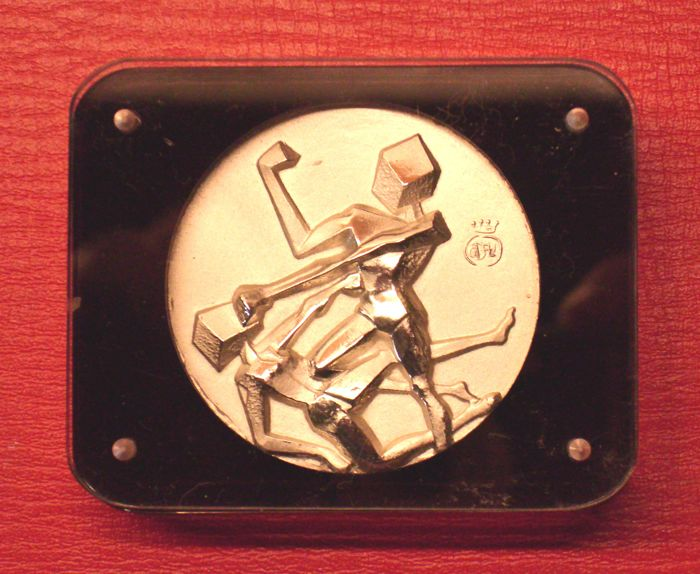 Salvador Dalì - original solid silver medallion - Los Angeles 1984 Olympic Games USA - Boxing