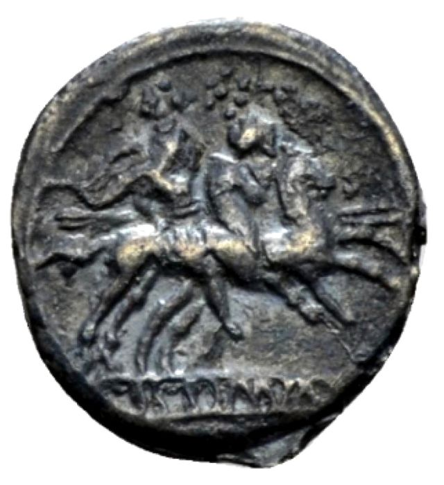 Romeinse Republiek - Anonymous AR sestertius,  214-213 B.C. - ROMA. The Dioscuri galloping. - Zilver
