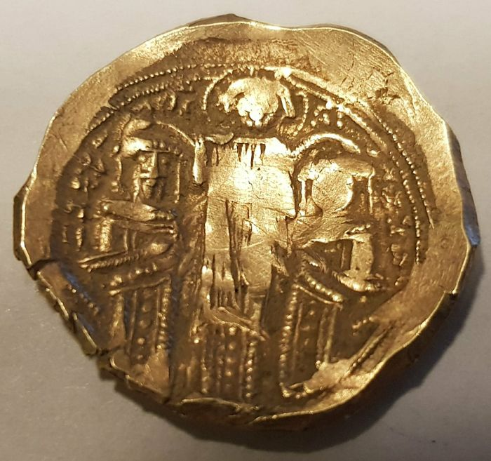 Byzantijnse Rijk - Hyperpyron - Andronicus II Palaeologus, with Andronicus III (1282-1328) - 1325-1328.  - Goud