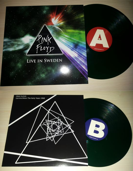 2 Lp Pink Floyd - Live In Sweden / Germin / Ation The Early Years 1968 - Green Vinyl