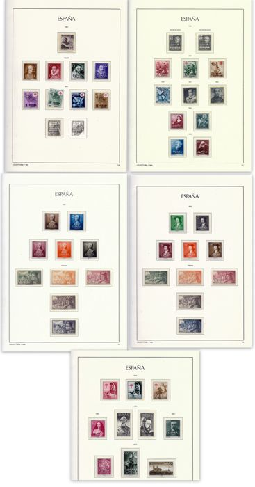Spain 1950/1954 - Lot of stamps in complete series - Edifil entre 1070 y 1142