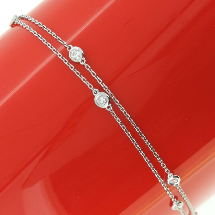 Diamond necklace /bracelet with 10 diamonds 0.50 ct in total *** no reserve price ***