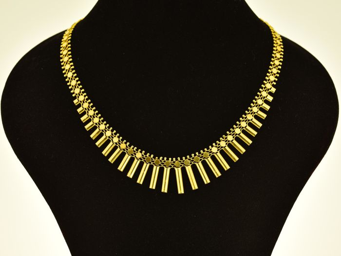Gold, 18 kt. Necklace. Length 43 cm. Weight 28.8 g.