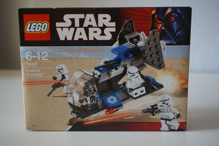 Star Wars - 7654 + 7667 + 8083 + 75001 - Droids Battle Pack + Imperial Dropship + Rebel Trooper Battle Pack + Republic Troopers vs. Sith Troopers