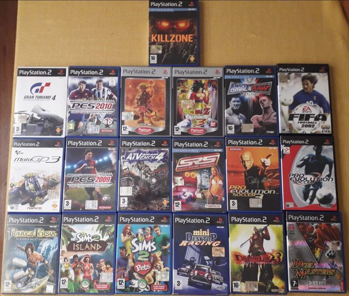 19 Videogames for Playstation2 like Dragon ball Z Budokai 3 + Devil May cry 3 + Duel Master  and more