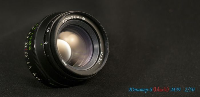 "The rarest lens of the USSR ""Jupiter-8 Black"" M39 2/50 Completely working !!"