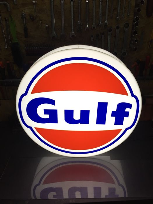 Decorative object - Gulf oil petrol collectible lightbox garage item - 2016-2017 (1 items)
